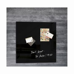 Magnetboard Glas artverum schwarz