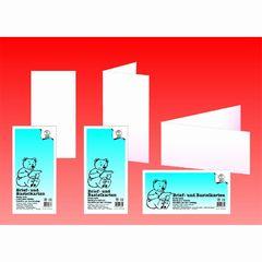 Briefkarte DIN lang weiß