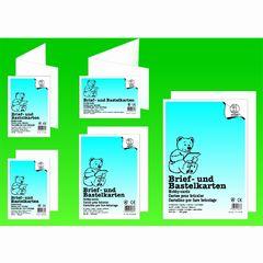 Briefkarte A6 hochdoppelt weiß