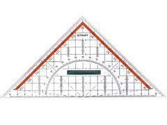 Geometrie-Dreieck mit Griff 23cm