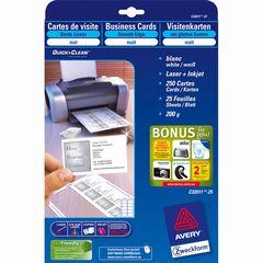 Visitenkarten 85*54mm weiß
