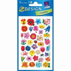 Sticker -Kleine Blütenköpfe-