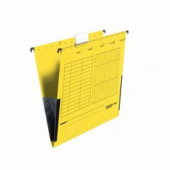 Hängetasche A4 Kraftkarton gelb