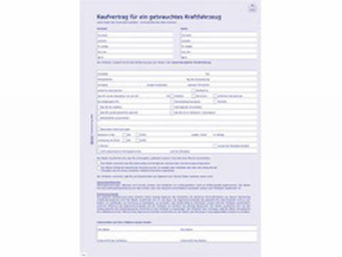 Kaufvertrag Kfz A4 4 Fach 2880 Bei Schreibwaren Bürobedarfde