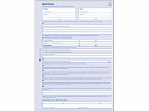 Kaufvertrag Allgemein A4 2fach 2881 Bei Schreibwaren Bürobedarfde